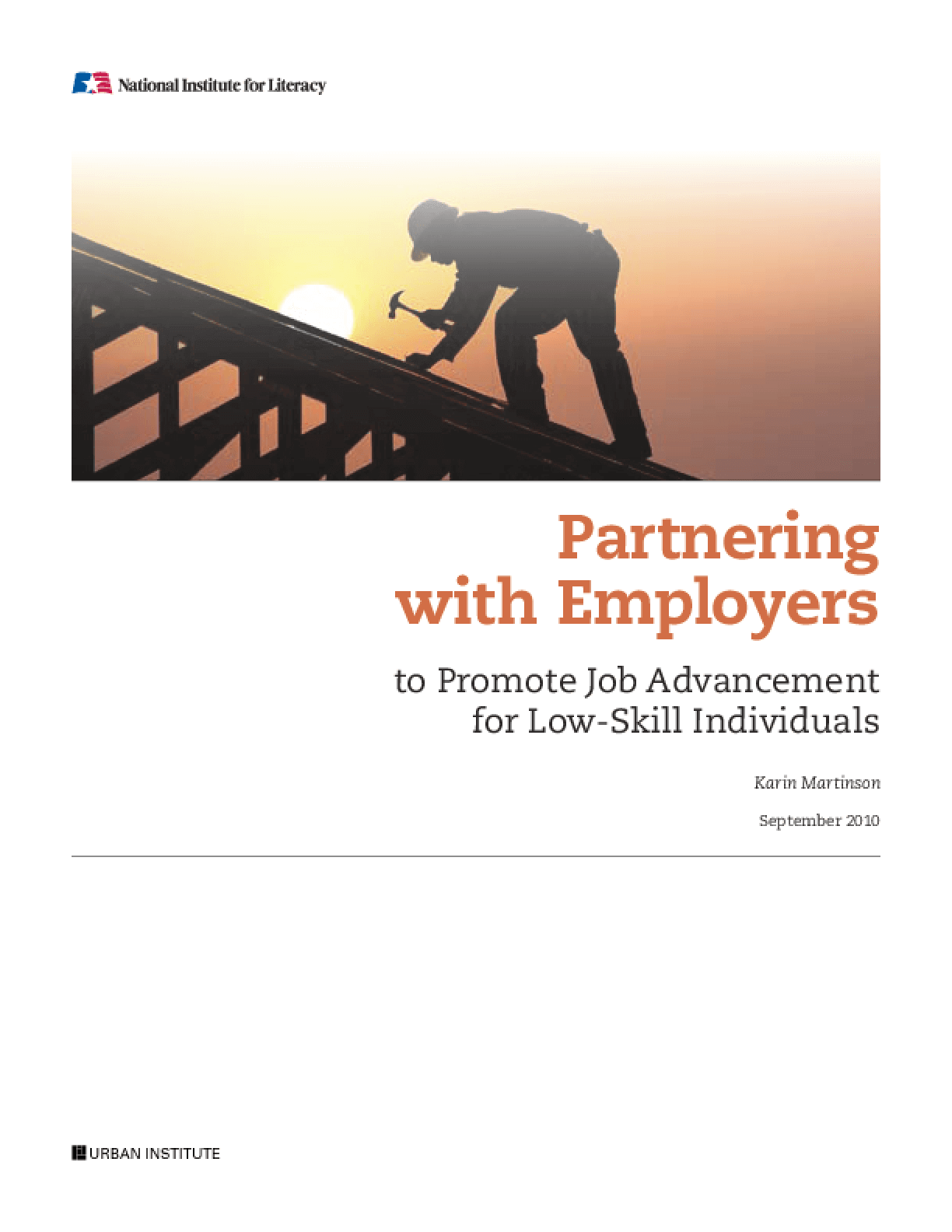 Partnering With Employers to Promote Job Advancement for Low-Skill Individuals