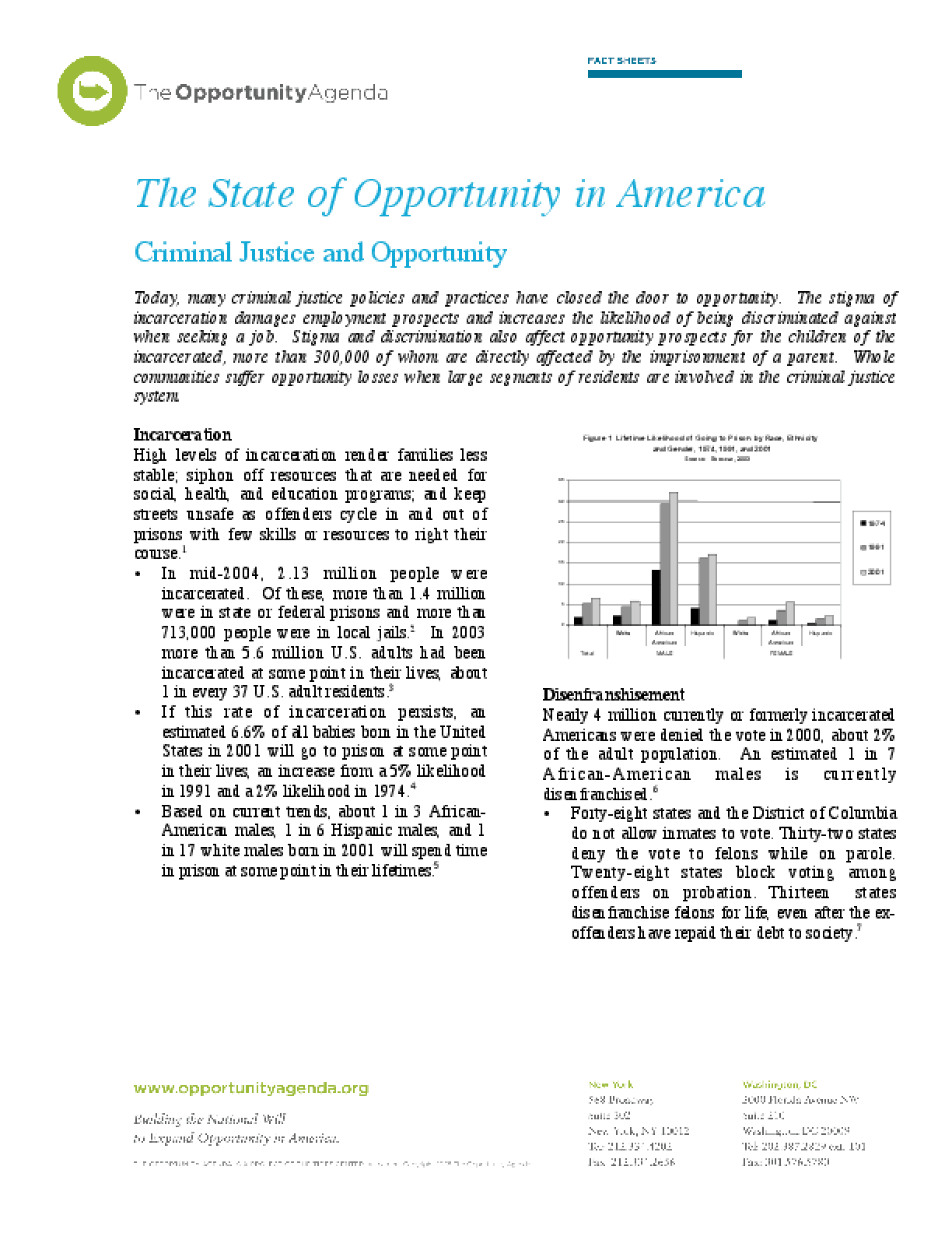 Criminal Justice and Opportunity