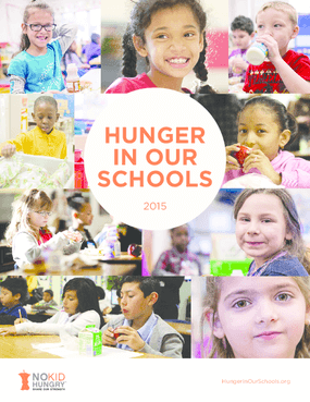 Hunger In Our Schools 2015