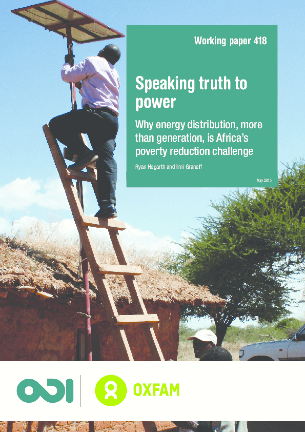 Speaking Truth To Power: Why Energy Distribution, More Than Generation, Is Africa's Poverty Reduction Challenge