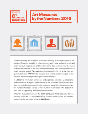 Art Museums by the Numbers 2016
