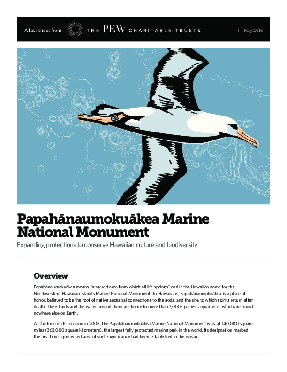 Papahānaumokuākea Marine National Monument Expanding Protections to Conserve Hawaiian Culture and Biodiversity