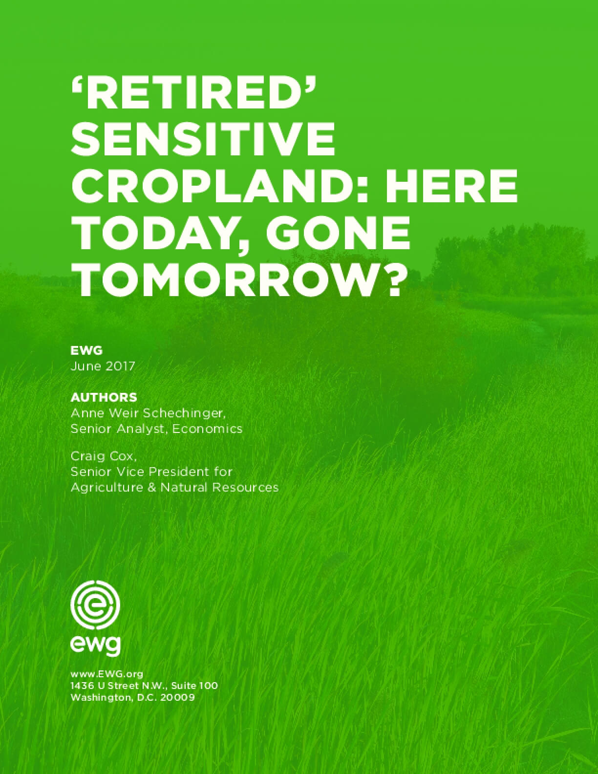 'Retired' Sensitive Cropland: Here Today, Gone Tomorrow?