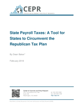 State Payroll Taxes: A Tool for States to Circumvent the Republican Tax Plan