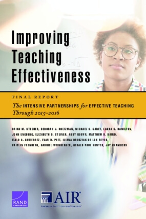 Improving Teaching Effectiveness: Final Report - The Intensive Partnerships for Effective Teaching Through 2015-2016