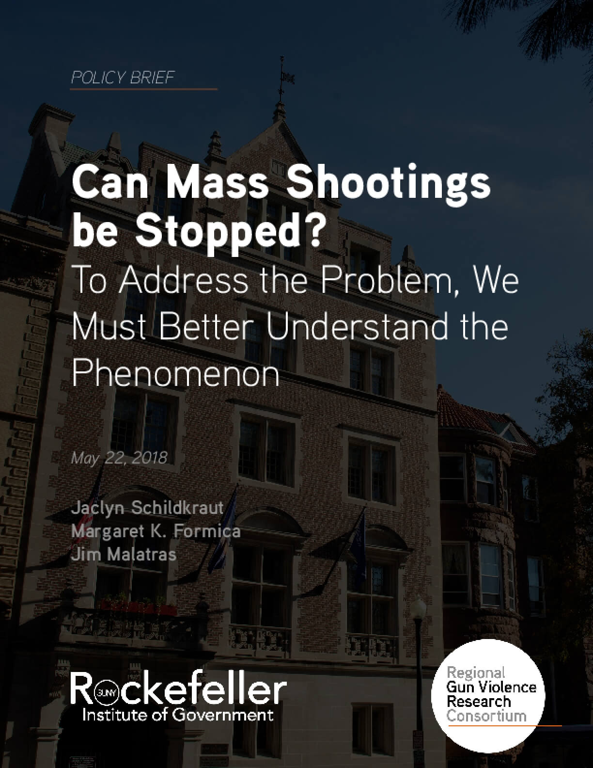 Can Mass Shootings  be Stopped? To Address the Problem, We Must Better Understand the Phenomenon