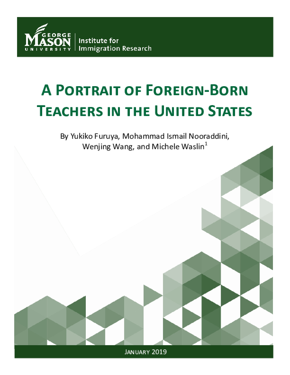 A Portrait of Foreign-Born Teachers in the United States