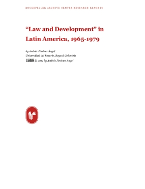 """Law and Development"" in Latin America, 1965-1979"