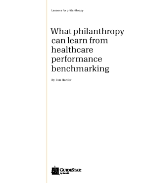 What Philanthropy Can Learn from Healthcare Benchmarking