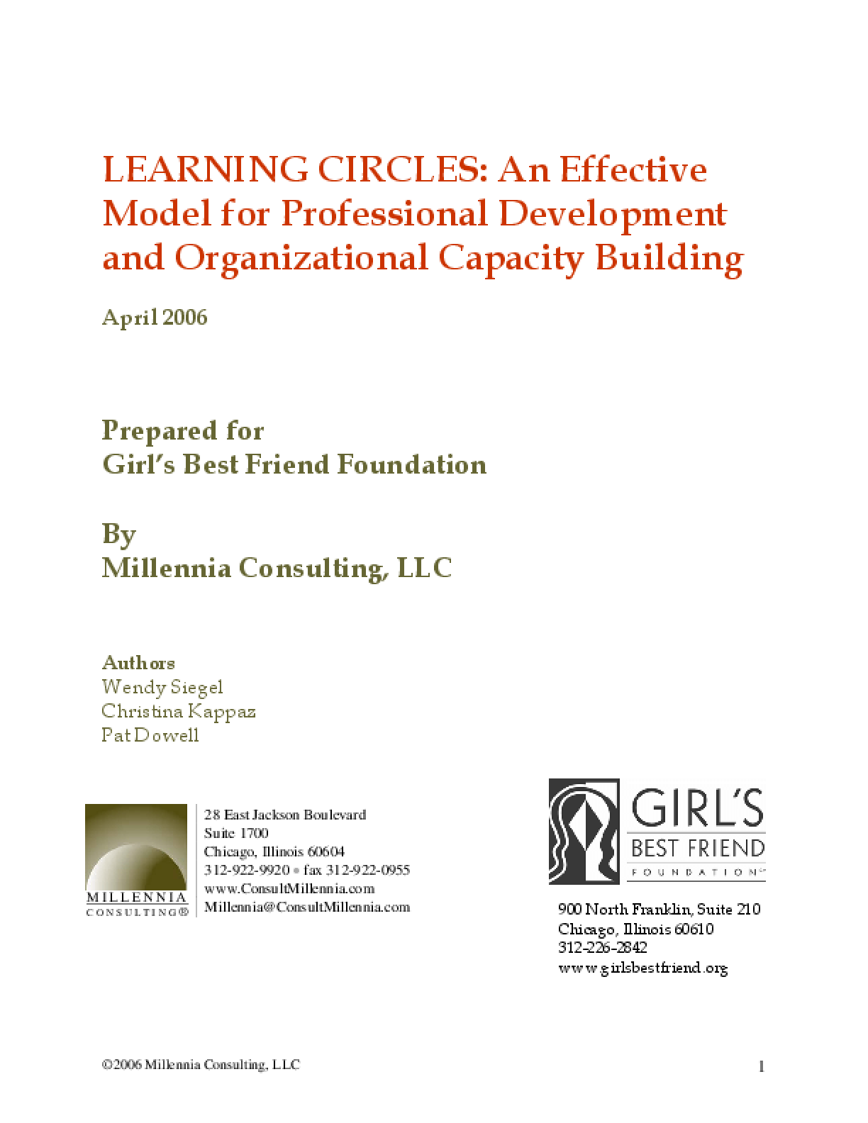 Learning Circles: An Effective Model for Professional Development and Organizational Capacity Building