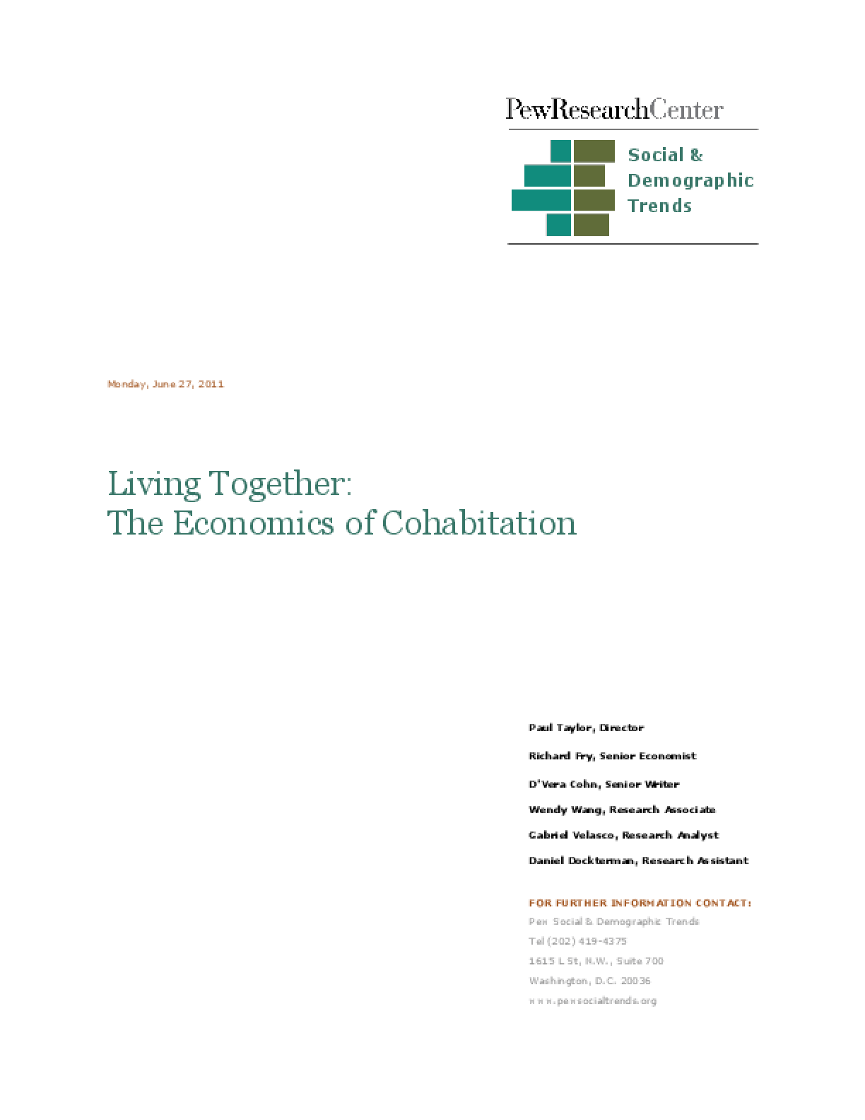 Living Together: The Economics of Cohabitation