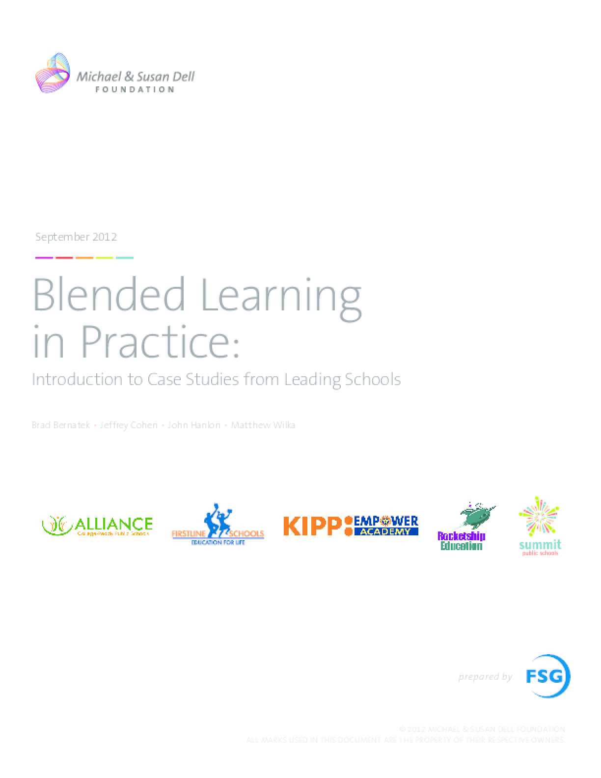 Blended Learning in Practice: Case Studies from Leading Schools