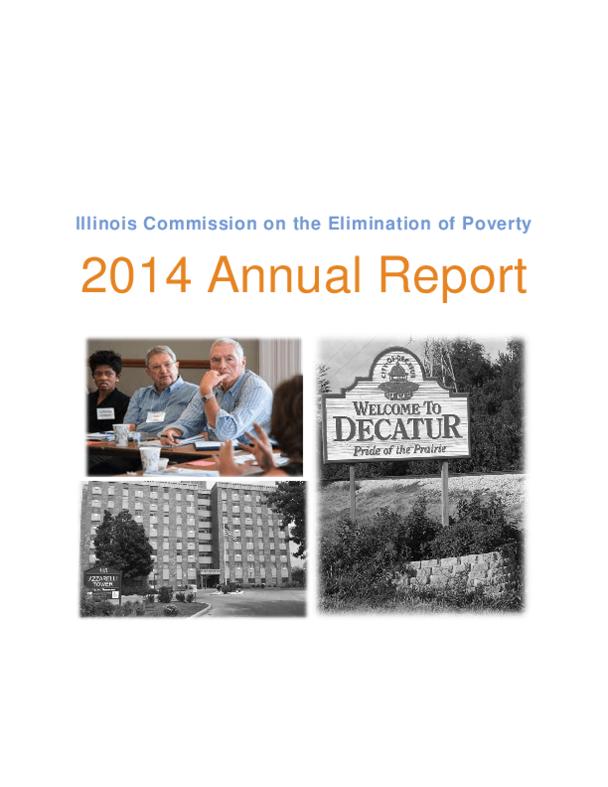 Illinois Commission on the Elimination of Poverty Annual Report 2014