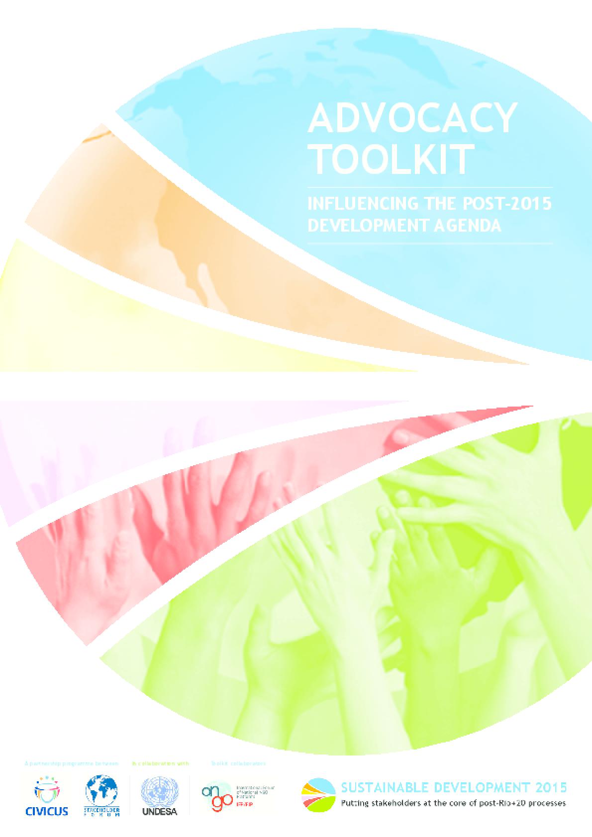 Advocacy Toolkit: Influencing the post-2015 Development Agenda
