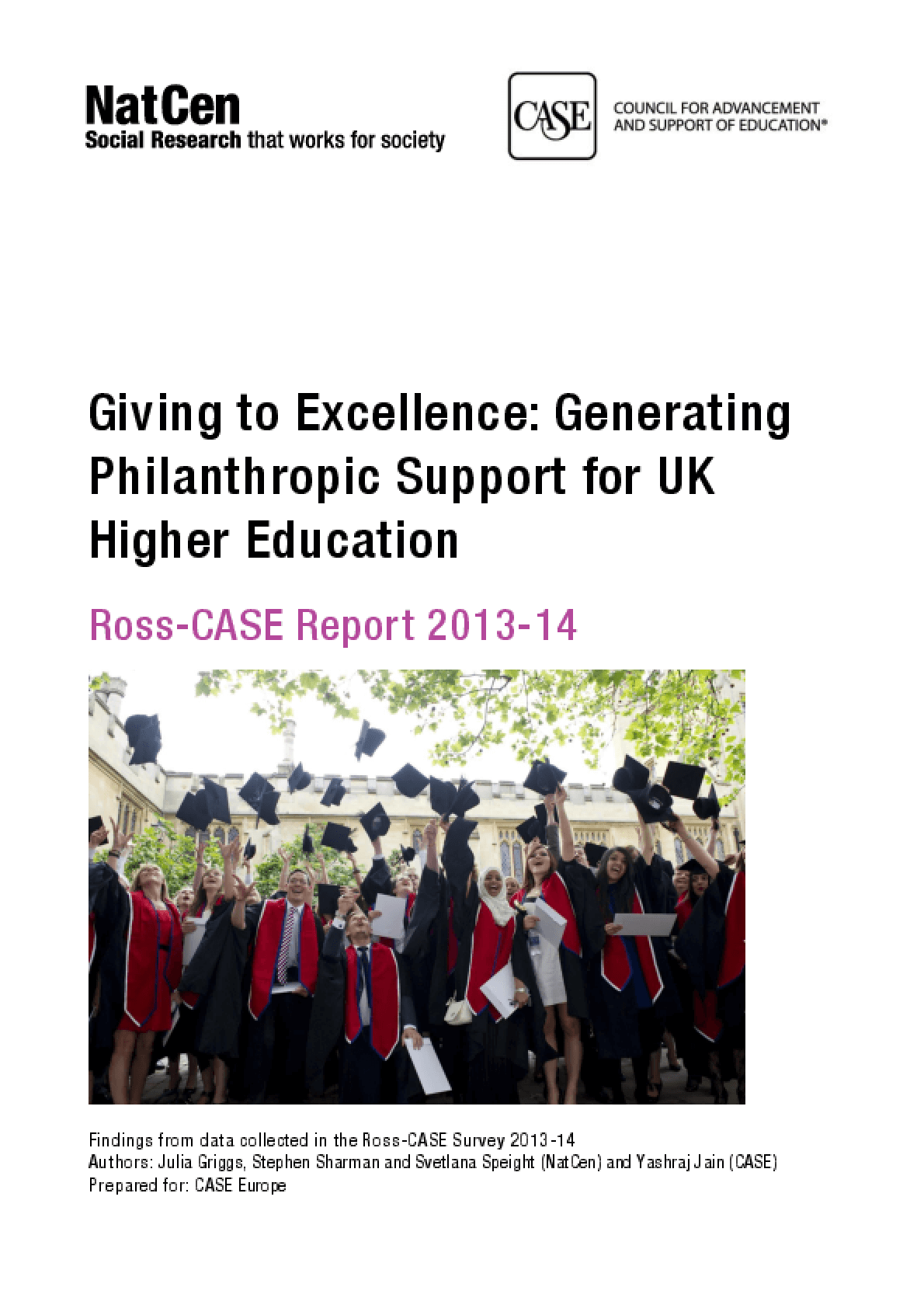 Giving to Excellence: Generating Philanthropic Support for UK Higher Education