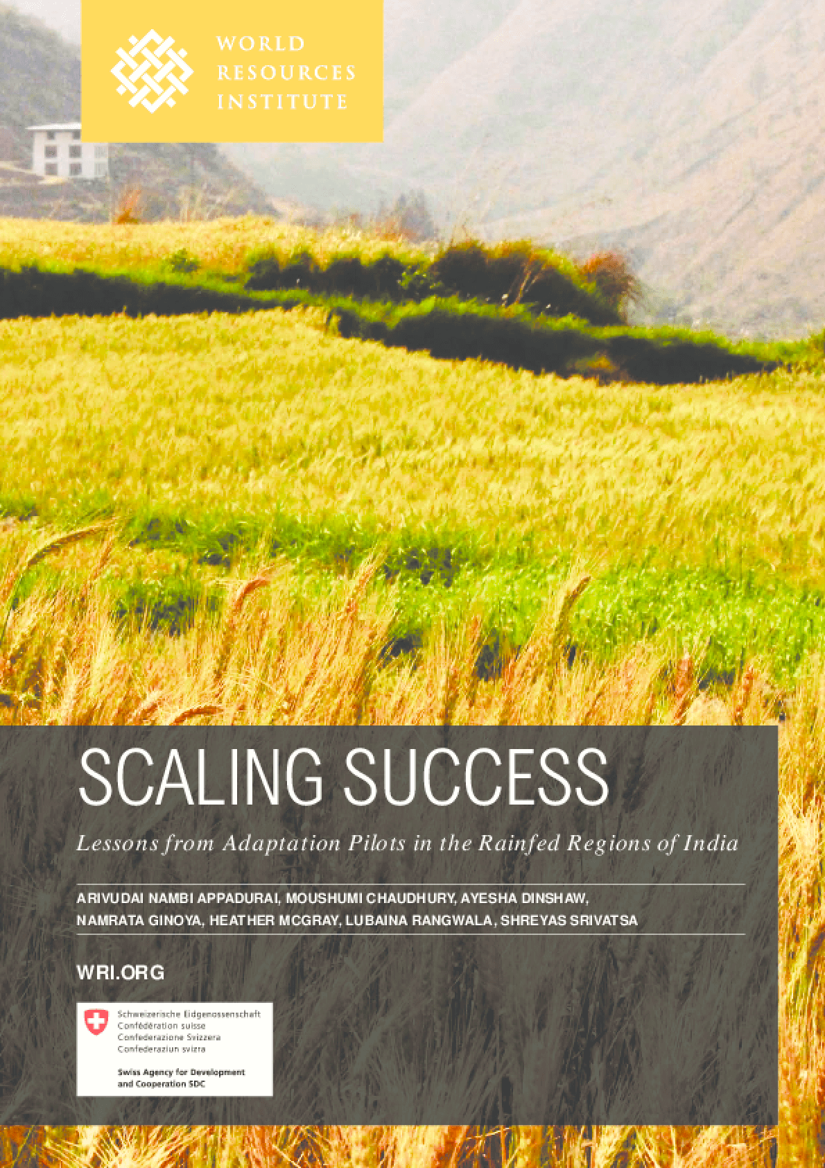 Scaling Success: Lessons from Adaptation Pilots in the Rainfed Regions of India