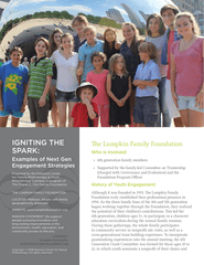 Igniting the Spark: Examples of Next Gen Engagement Strategies, Lumpkin Family Foundation