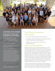 Igniting the Spark: Examples of Next Gen Engagement Strategies, Tracy Family Foundation