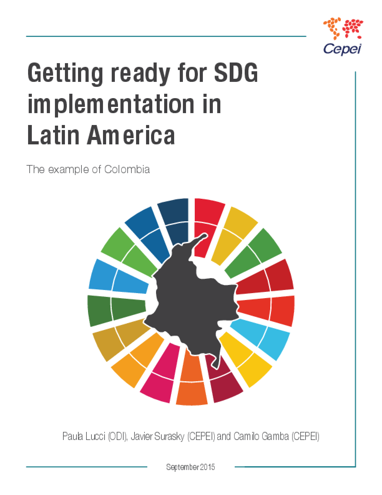 Getting Ready for SDG Implementation in Latin America: The Example of Colombia