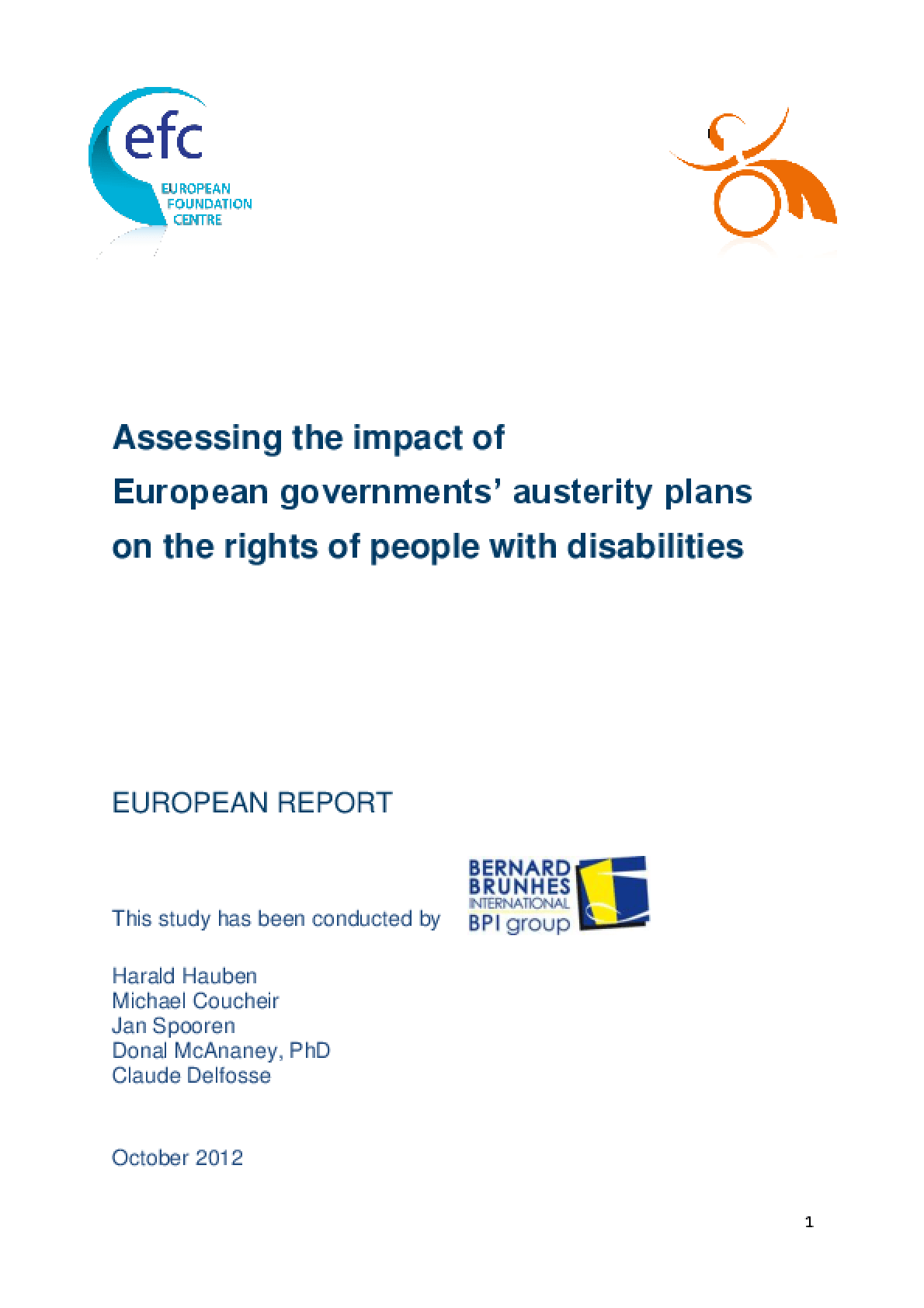 Assessing the Impact of European Governments' Austerity Plans on the Rights of People with Disabilities