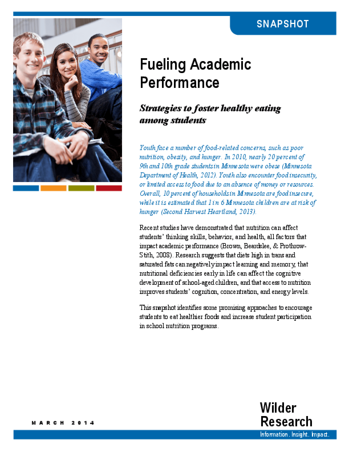 Fueling Academic Performance: Strategies to Foster Healthy Eating Among Students