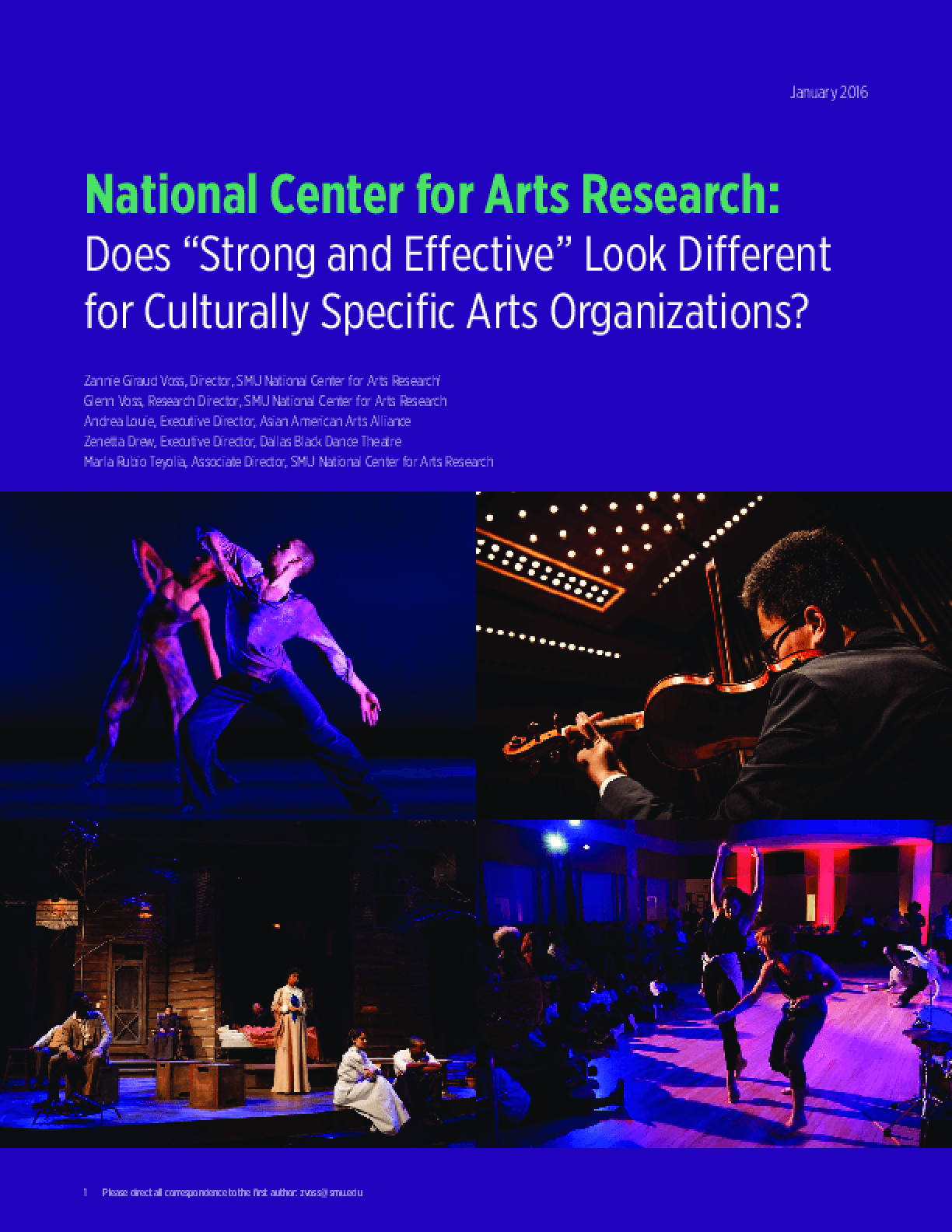Does Strong and Effective Look Different for Culturally Specific Arts Organizations?