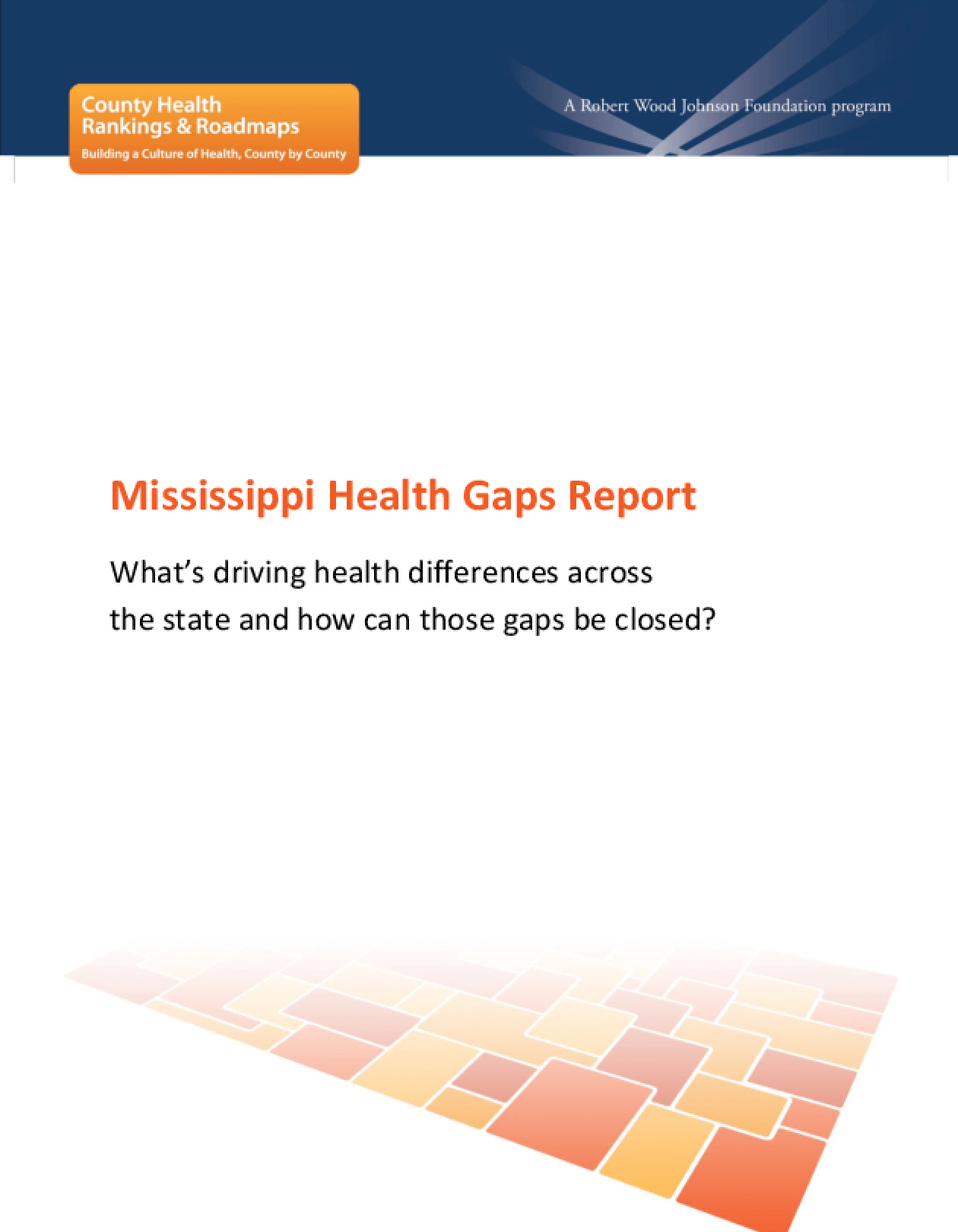 Mississippi Health Gaps Report: What's Driving Health Differences Across the State and How Can Those Gaps Be Closed?