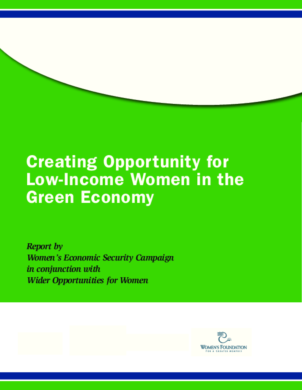 Creating Opportunity for Low-Income Women in the Green Economy