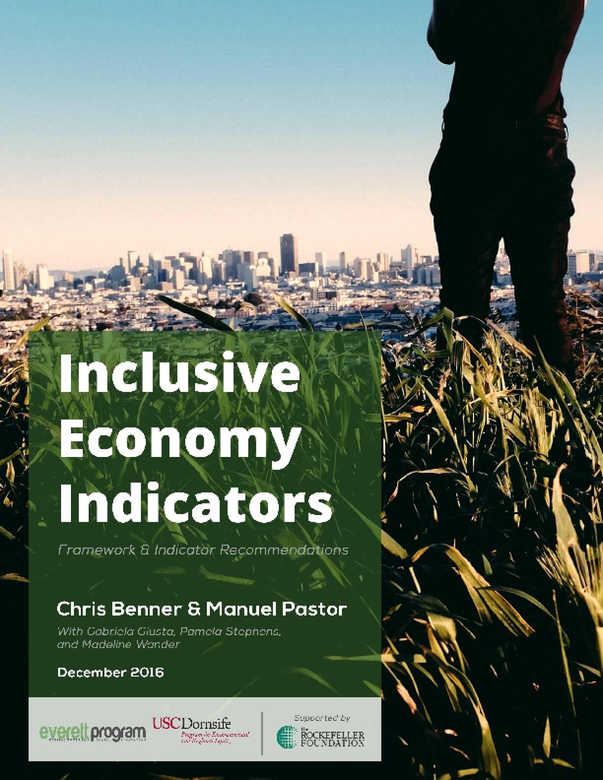 Inclusive Economy Indicators: Framework & Indicator Recommendations