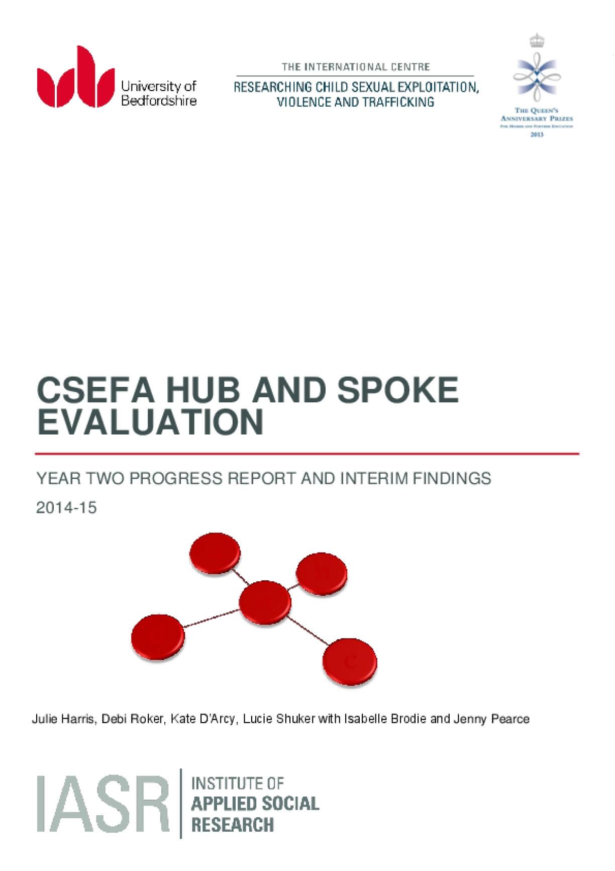 CSEFA Hub and Spoke Evaluation