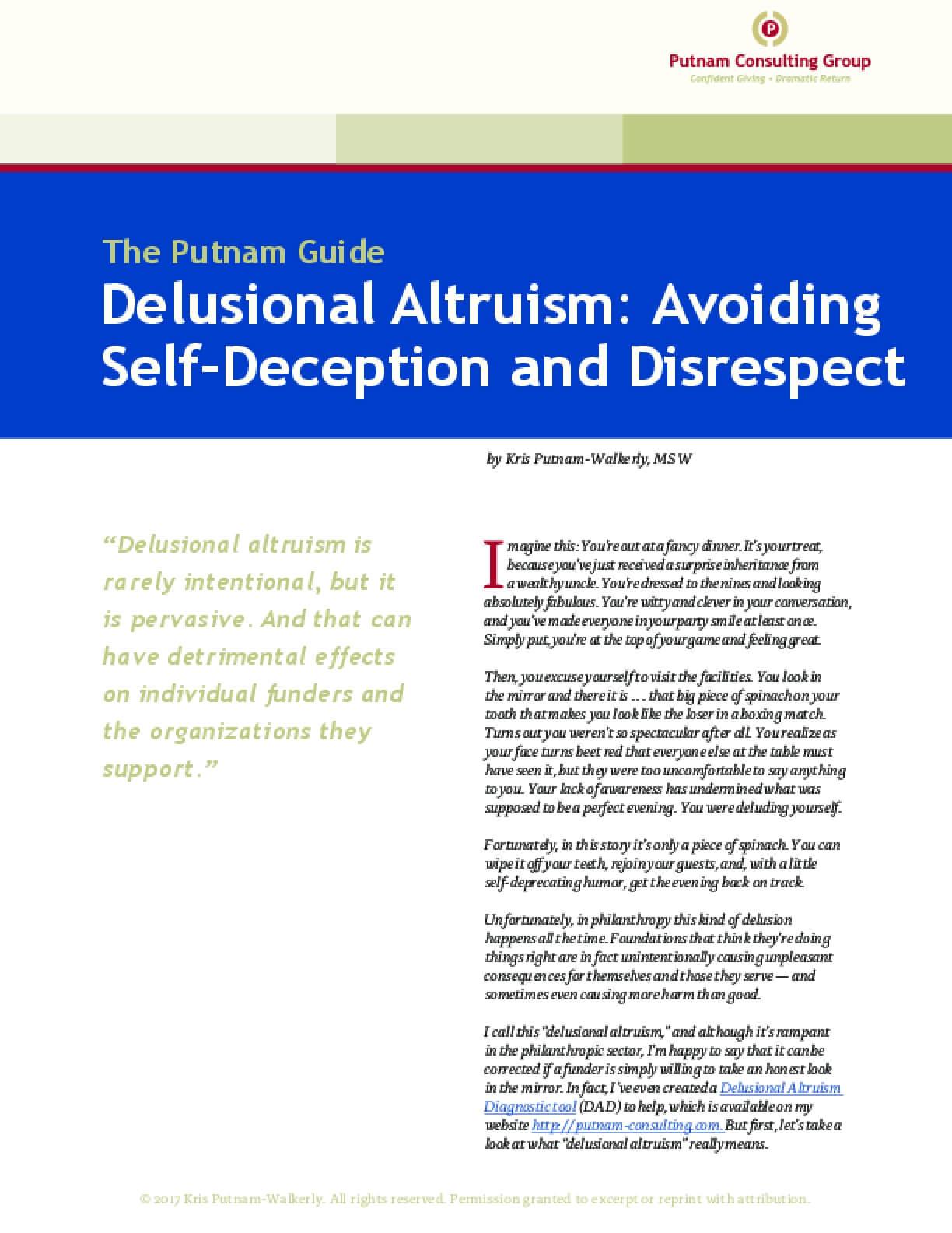 Delusional Altruism: Avoiding Self-Deception and Disrespect