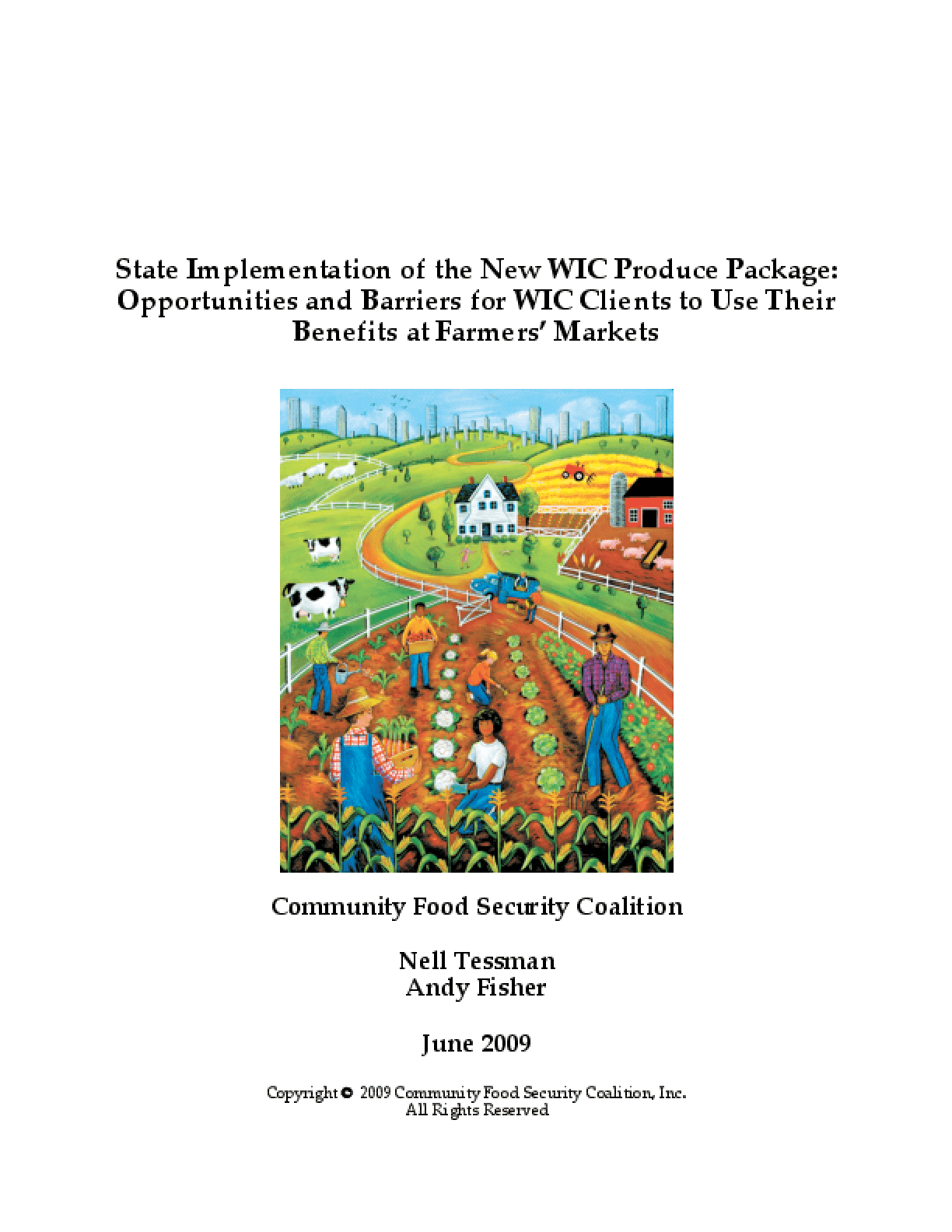 State Implementation of the New WIC Produce Package: Opportunities and Barriers for WIC Clients to Use Their Benefits at Farmers' Markets
