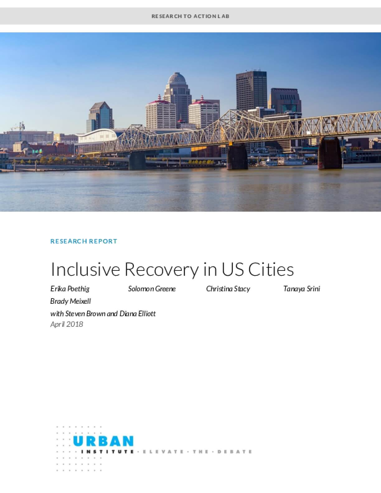 Inclusive Recovery in US Cities