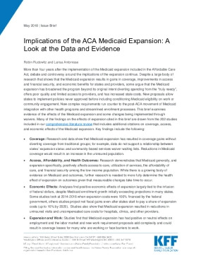 Implications of the ACA Medicaid Expansion: A Look at the Data and Evidence
