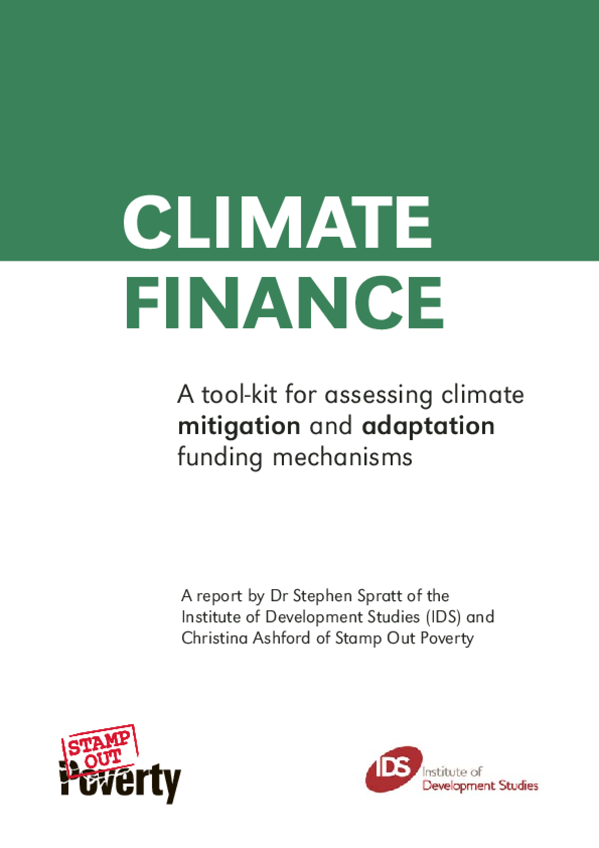 Climate Finance: A tool-kit for assessing climate mitigation and adaptation funding mechanisms