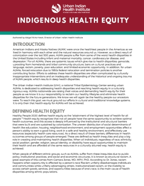 Indigenous Health Equity