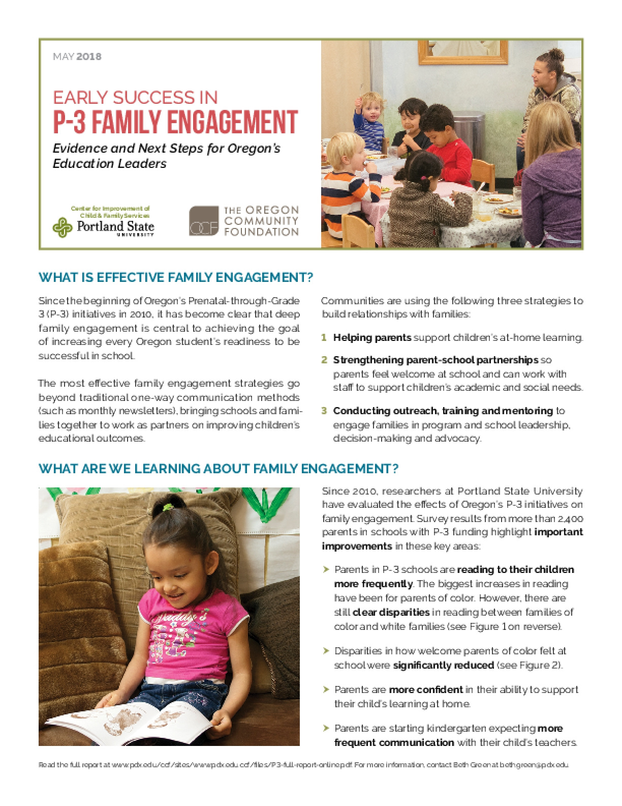Early Success in P-3 Family Engagement
