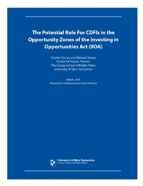 The Potential Role For CDFIs in the Opportunity Zones of the Investing in Opportunities Act (IIOA)