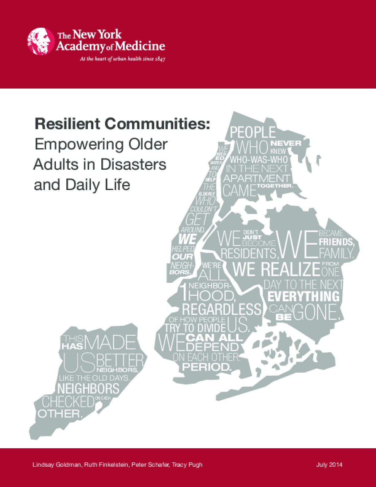 Resilient Communities: Empowering Older Adults in Disasters and Daily Life
