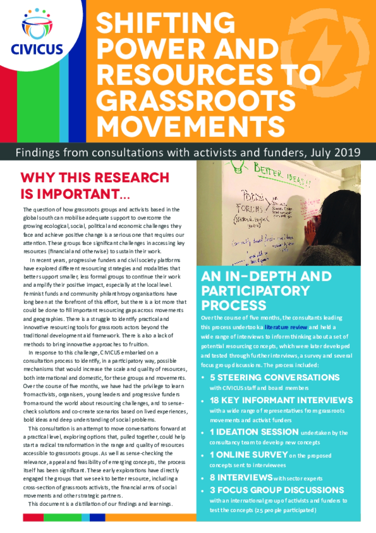 Shifting Power And Resources To Grassroots Movements: Findings from consultations with activists and funders, July 2019