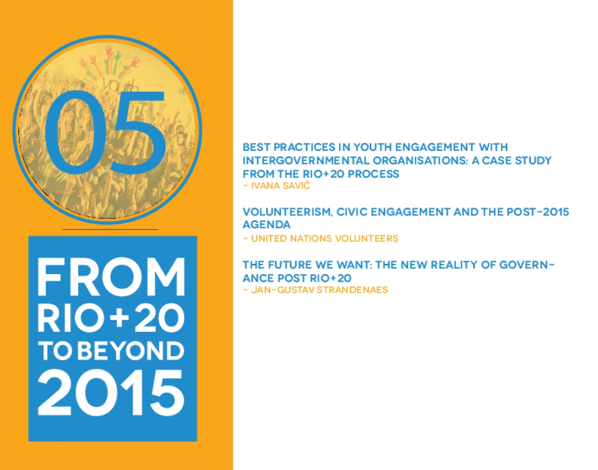Best practices in youth engagement with intergovernmental organisations: a case study from the Rio+20 process
