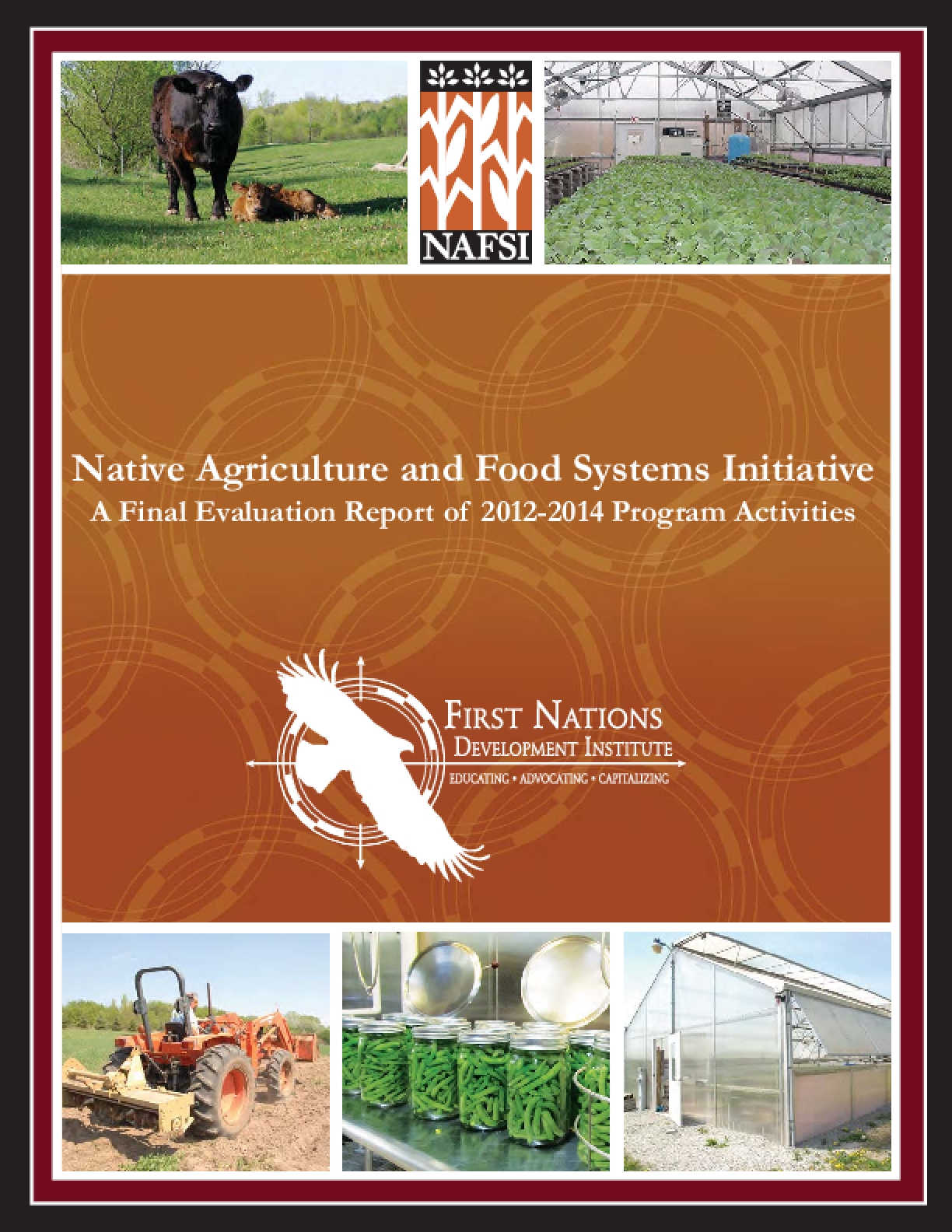 Native Agriculture and Food Systems Initiative: A Final Evaluation Report of 2012-2014 Program Activities