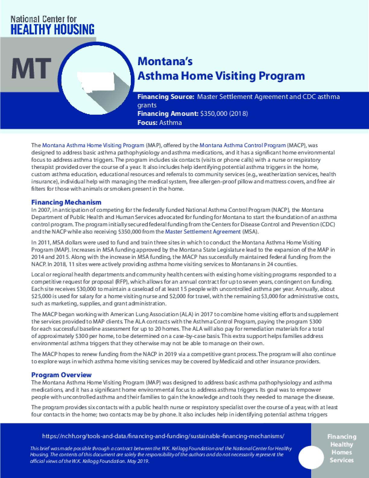 Montana's  Asthma Home Visiting Program