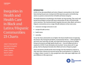 Inequities in Health and Health Care in Black and Latinx/Hispanic Communities: 23 Charts