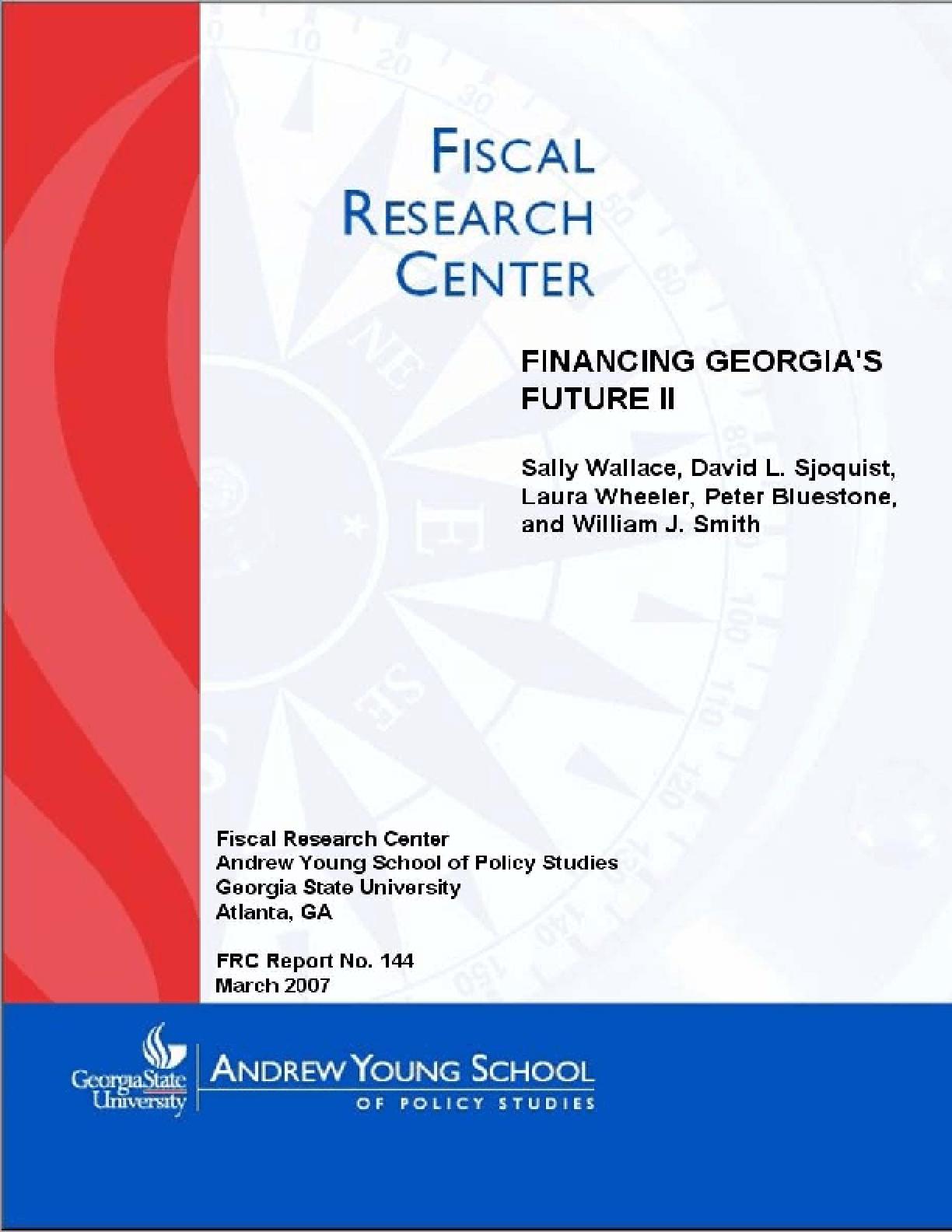 Financing Georgia's Future II