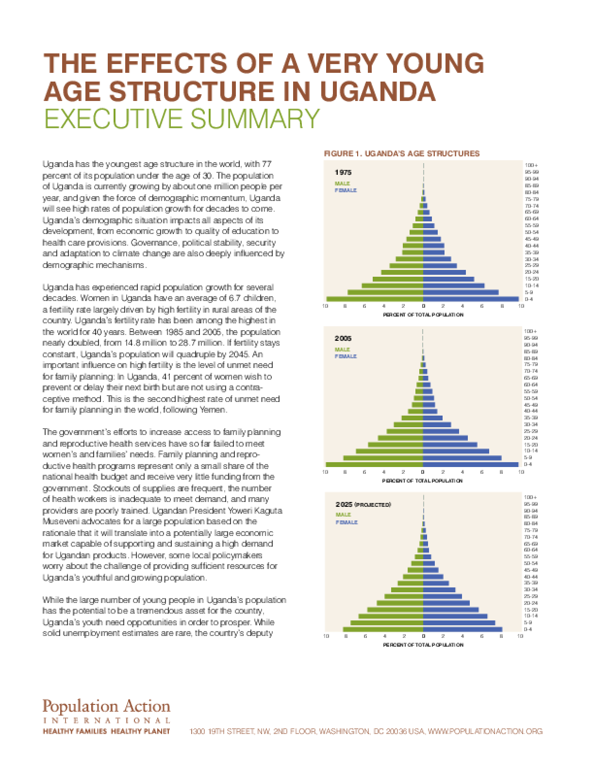 The Effects of a Very Young Age Structure in Uganda: A Country Case Study