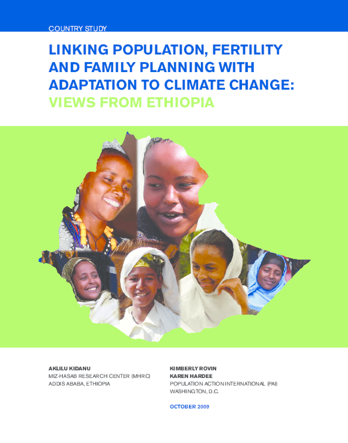 Linking Population, Fertility and Family Planning with Adaptation to Climate Change: Views from Ethiopia