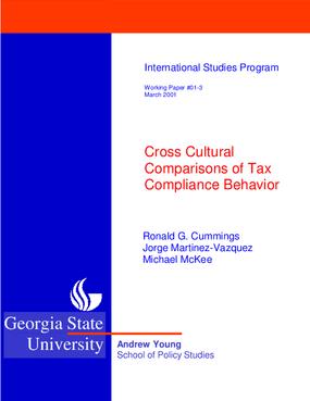 Cross Cultural Comparisions of Tax Compliance Behavior