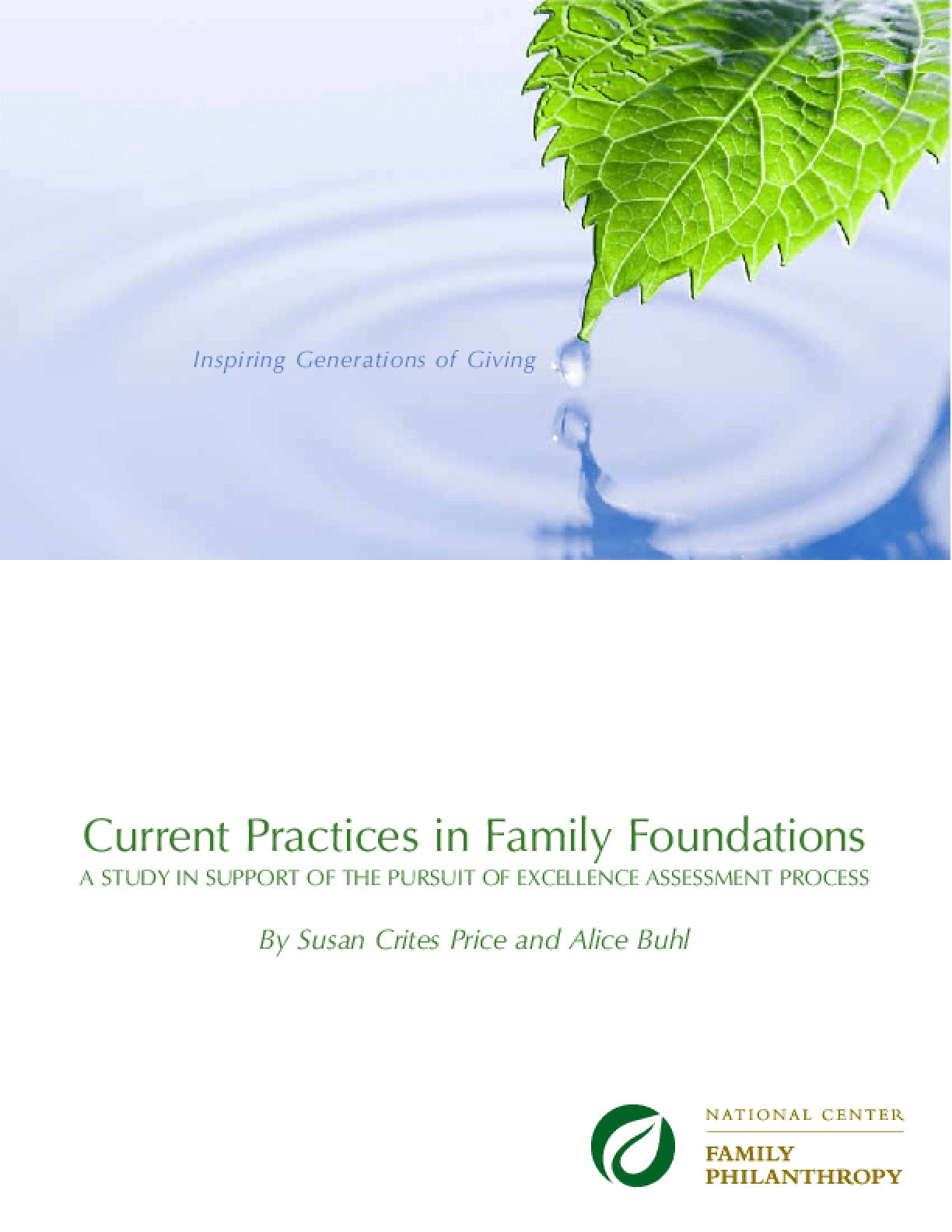 Current Practices in Family Foundations
