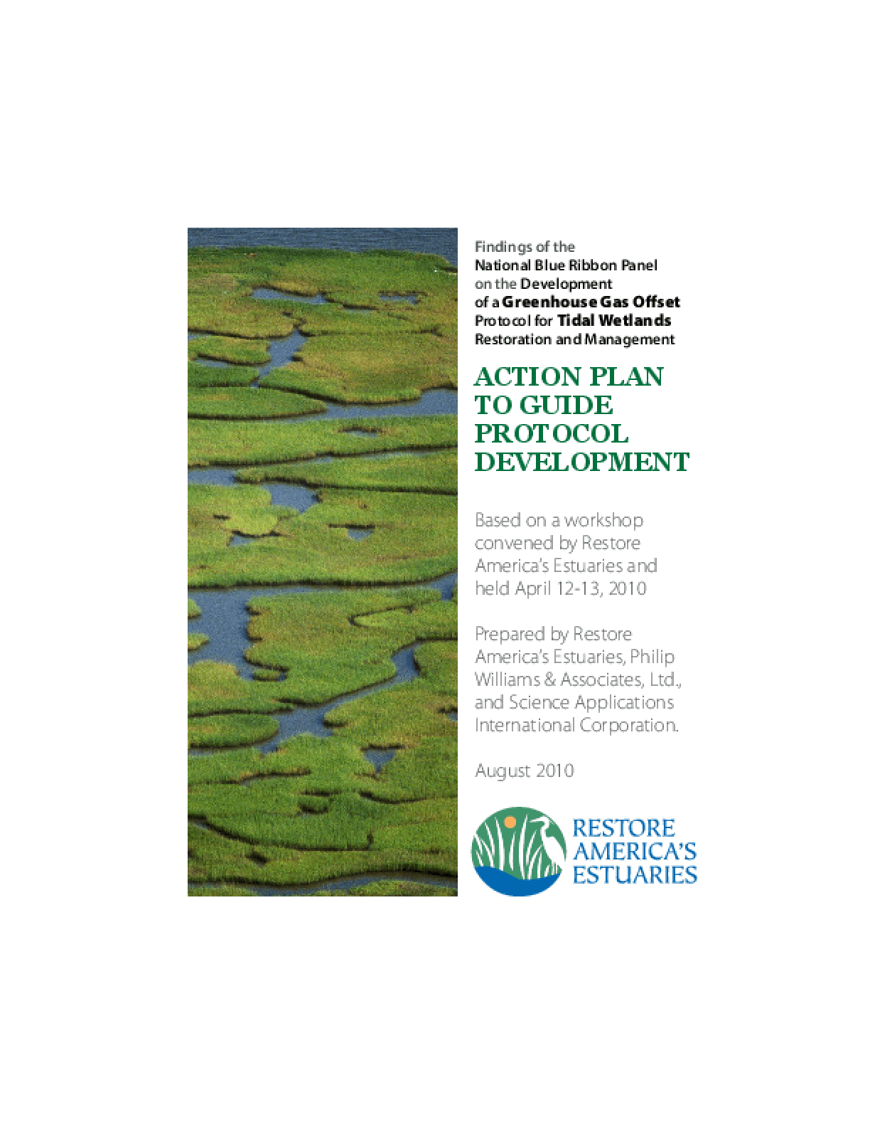 Findings of the National Blue Ribbon Panel on the Development of a Greenhouse Gas Offset Protocol for Tidal Wetlands Restoration and Management